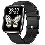 Smartwatch, Orologio Fitness Schermo Tattile da 1,7 Pollici, Tracker Attività da Uomo e Donna, Smartwatch Sportivo Bluetooth Impermeabile IP68 Cardiofrequenzimetro Contapassi da Polso per Android iOS