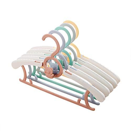 putoping Perchas Baby Kids Colgante Ajustable Perchas para niños,Perchas para bebé Extensibles, Antideslizantes, durables (5 Piezas)