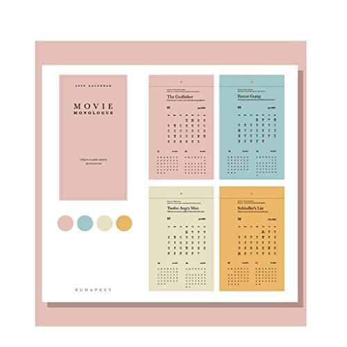 Hermosa y delicada Calendario de la decoración del hogar de escritorio aplicable, el calendario de escritorio 2020 Creative Desktop Decoración Calendario Plan de mama casera Oficina de Negocios del ca