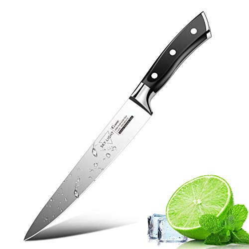 SKY LIGHT Messer Kochmesser Profi 15cm Allzweckmesser Gemüsemesser Scharf Küchenmesser Obstmesser