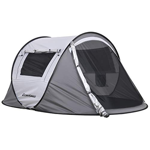 EchoSmile Camping Instant Tent, 2 to 8 Person Pop Up Tent, Water Resistant Dome Tent, Easy Setup for...