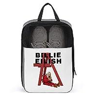 シューズケース ビリー・アイリッシュ (1) シューズ袋 シューズバッグ トラベル 旅行ポーチ 旅行バッグ 靴収納 手持ち付き 収納袋 靴入れ 多機能 防水 防塵 トラベル用 2点セット 大容量