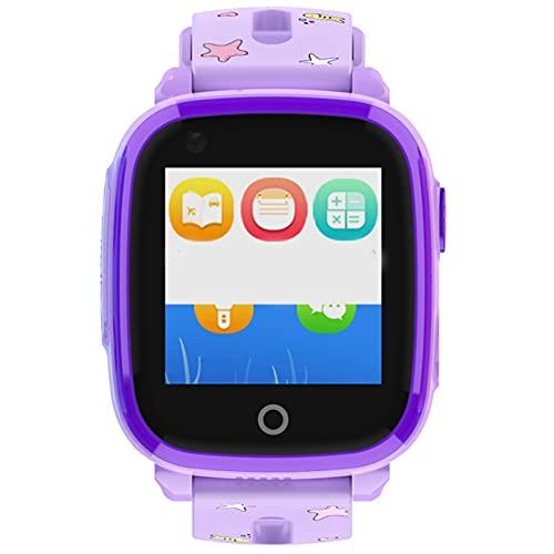 shjjyp Smartwatch Reloj Inteligente Pantalla TáCtil Completa Pulsera De Actividad Smartwatch Mujer Hombre NiñO Reloj Deportivo A Prueba De Nadar Impermeable PodóMetro Monitor De SueñO Púrpura