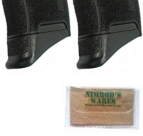 """Nimrod's Wares Two Pearce Grip Sig Sauer P365 Grip Extensions 5/8"""" PG-365 Microfiber Cloth"""