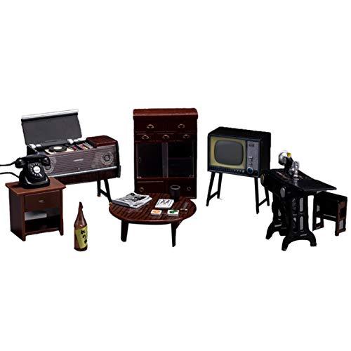 Sonoaud Juego de muebles en miniatura para máquina de coser, mueble de TV, para casa de muñecas, para accesorios de fotos, decoración de muebles, regalo para niños mayores de 3 años A