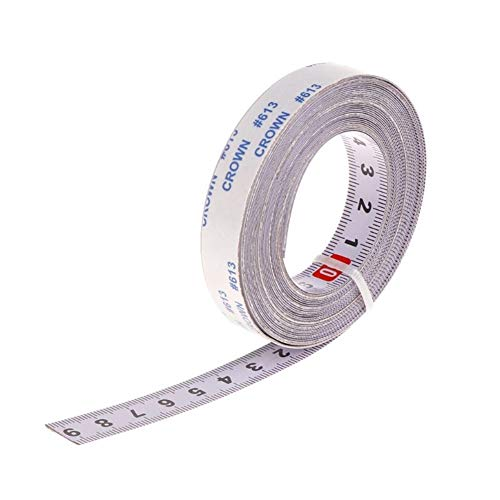 Self Adhesive Metric Lineal Edelstahl Gehrungssäge Spur Maßband metrische Skala Lineal für T-Spur Router Tischkreissäge Holzbearbeitungswerkzeug