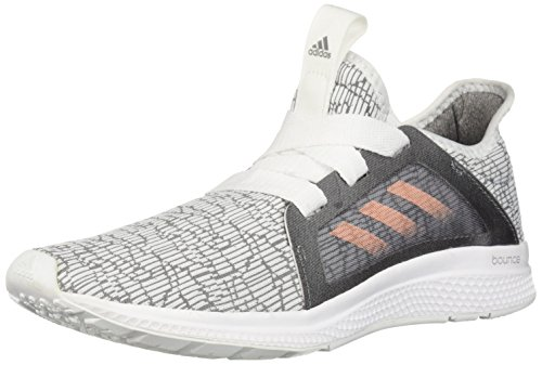 adidas Unisex Edge lux Running Shoe, Grey/Haze Coral/White, 4 M US Big Kid