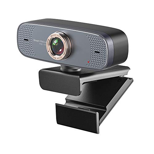 HXwsa 1080P webcam, HD PC webcam, USB-minicomputer-camera, ingebouwde microfoon, flexibele draaibare clip, voor laptops, desktops en gaming, 90 graden weergave uitgebreid, B
