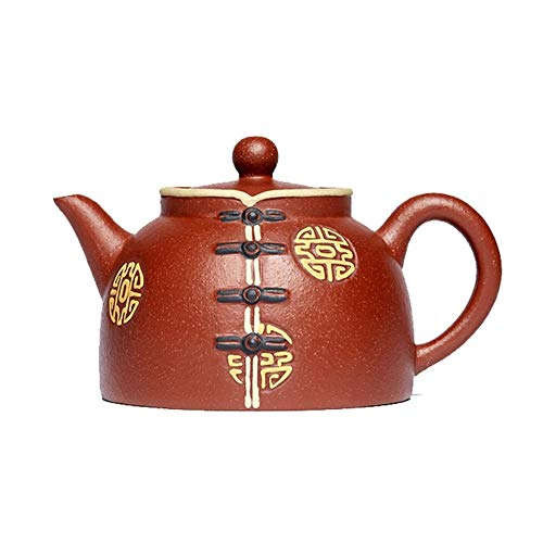 XIEQUN Tetera famosa Zhuni, disfraz de 260 cc, tetera de viaje, ceramica, Purple mud