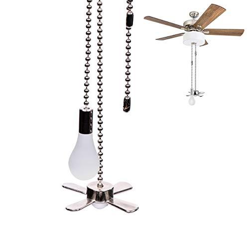 Hunter - Lámpara de techo colgante con cadena extensible de 13.6 pulgadas para ventilador de techo y ventilador de techo (níquel)