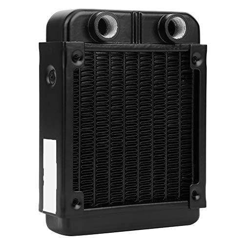 Disipador de calor de CPU, radiador de intercambiador de calor accesorio de computadora, enfriador de CPU Refrigeración industrial negra para placa de enfriamiento de semiconductores