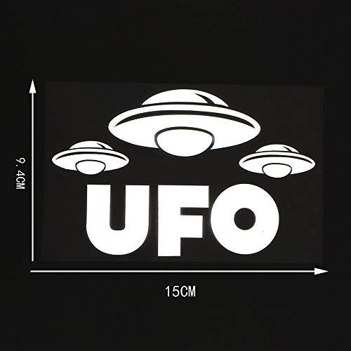 WBXZY YJZT15X9,4 CM UFO Pegatinas de Coche Vinilo calcomanía Area 51 Space Storm 10A-0145-Plata