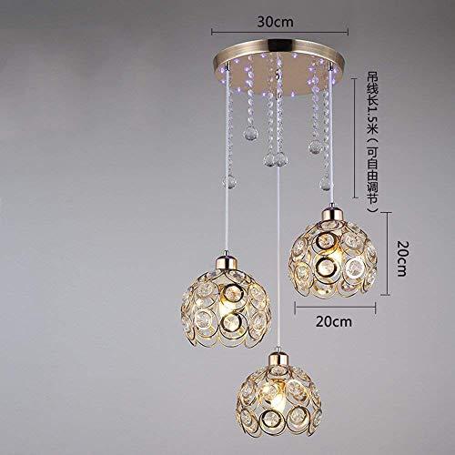 on. Gzz Deng Home Moderne vintage hanglamp hanglamp plafondlamp led kristal restaurant goud keuken woonkamer slaapkamer kroonluchter decoratief