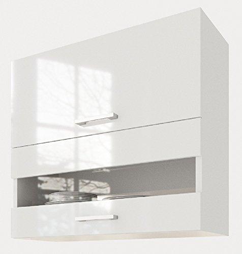 """ELDORADO-MÖBEL 80 cm Hängeschrank für die Küche Alina"""" (1001) (Weiß-lackiert)"""