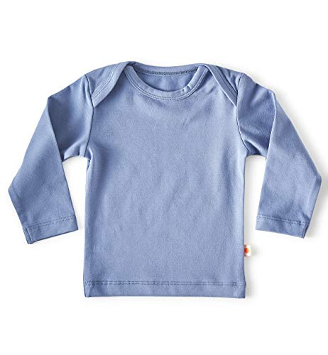 little label Wickelshirt Bio Baumwolle Baby Hell Blau