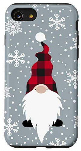 iPhone SE (2020) / 7 / 8 Christmas Gnome Buffalo Plaid Snowflake Pattern Case