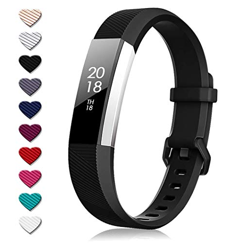 TreasureMax for Fitbit Alta HR Bands and Fitbit Alta Bands, Adjustable Soft Silicone Sports Replacement Accessories Bands for Fitbit Alta HR/Fitbit Alta