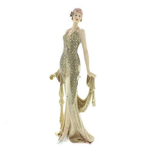 Juliana Broadway Belles Gold Glitzer Figur Skulptur halten Schal Lucia