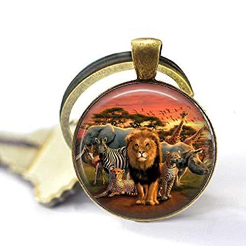 Afrikanische Wildtiere Kunst Foto Charm Anhänger Halskette Schmuck Geschenk Schlüsselanhänger