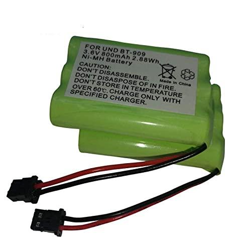 kusashangye Batería de Repuesto de Repuesto RC Batería Recargable de teléfono inalámbrico de 3.6v para BT-909 BT909 3AAA 800mAh 3.6V Baterías Recargables 2Pcs