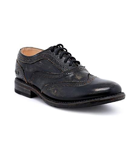 Bed|Stu Women's Lita Oxford Shoe (9.5, Black Hand Wash.)