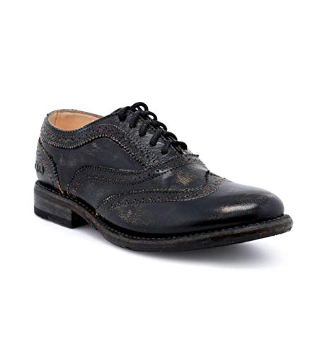Bed|Stu Women's Lita Oxford Shoe (7.5, Black Hand Wash.)
