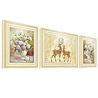 リビングルームの装飾絵画アート油絵現代プリント用家の装飾3ソファダイニングルーム寝室の画像背景壁印刷吊り壁画