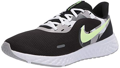 Nike Men's Revolution 5 Black/White-Ghost Green-Sapphire Running Shoes-6 UK (40 EU) (7 US) (BQ3204-007)