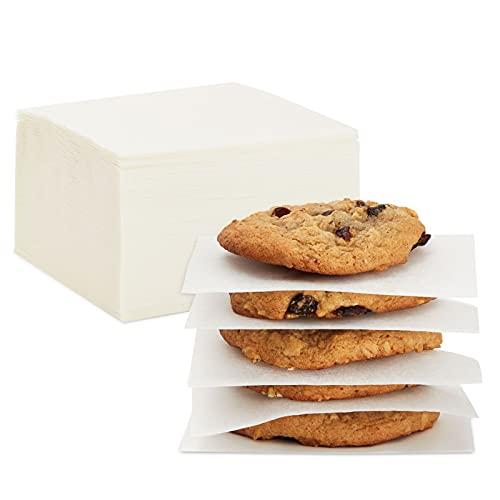 Precut Parchment Paper Squares, Baking Sheets (4 x 4 In, 1000 Pack)