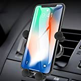 ICHECKEY Support Telephone Voiture Ventilation avec Rotation 360° pour iPhone 11/XR/8/7,Samsung, Huawei P30/Mate 30...