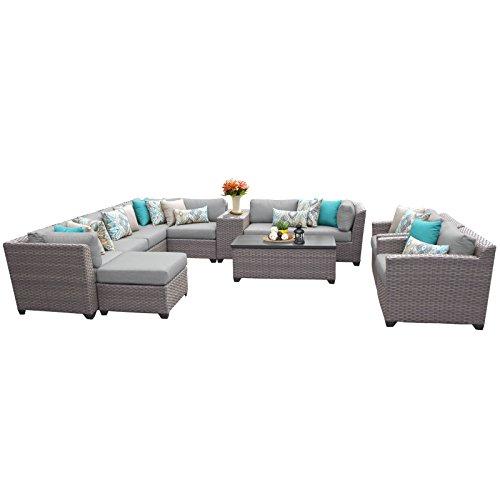 TK Classics FLORENCE-12b 12 Piece Outdoor Wicker Patio Furniture Set