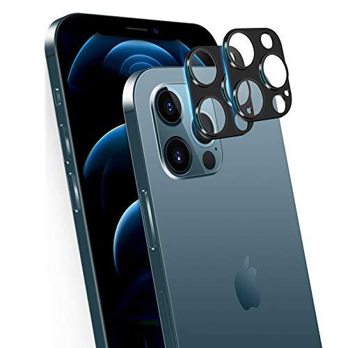 """memumi 3D Kamera Panzerglas Schutzfolie für iPhone 12 Pro Max, [2 Stück] Kamera Linse Panzerglasfolie Anti-Kratzen Kameraschutz für iPhone 12 Pro Max (6.7\"""", 2020)"""