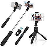 QUMOX Bluetooth Selfie Stick Mirror Remote Monopod Stand Holder para iPhone Android