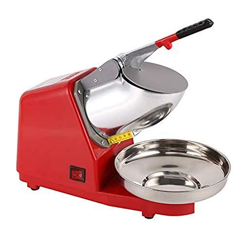Elektrische dubbele mes ijsmachine Huishoudelijke en commerciële roestvrij kegel machinefabrikant Keukenmachine Elektrische ijsmachine