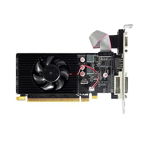 Tarjeta de vídeo HD6450 2 GB 64Bit GDDR3 VGA para AMD Radeon Game Low Profile PCI-E 2.0 tarjeta gráfica se adapta a Slim/SFF tamaño ordenador tarjeta gráfica Gaming