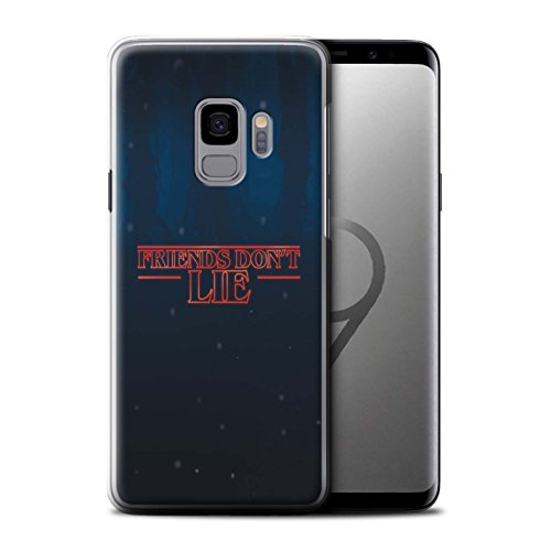 Phone Case for Samsung Galaxy S9/G960 Strange Retro Friends Don't Lie Design Transparent Clear Ultra Slim Thin Hard Back Cover