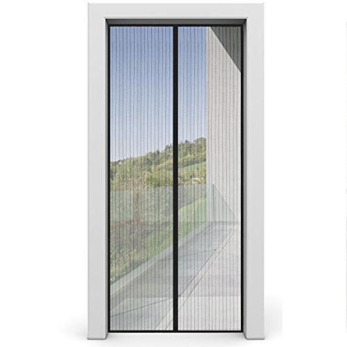 Fliegengitter Tür von INSECT-X, Insektenschutz für Balkontür und Terrasentür - Fliegengittertür Fliegenvorhang ohne Bohren, Fliegennetz zum Schutz vor Insekten Fliegen Mücken (100 x 210 cm)