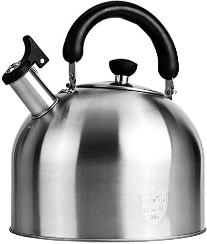 Whistling Kettle Tea Water Jug RVS Gasfornuis Ketel met fluitje grote capaciteit Home For All Hob/Stove Types inclusief inductie (Size : 5L)