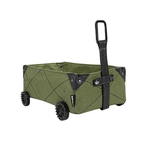 Caja de almacenamiento para camping, cesta de compra de carro de lona plegable para coche