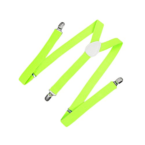 Romacci Herren Damen Y-Form Hosen Hosenträger Gürtel-Bandage Elastisch, Gelb2, Standard