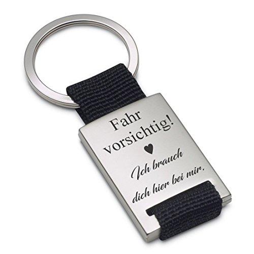 Lieblingsmensch Schlüsselanhänger Modell: Fahr vorsichtig (Textilband)