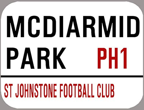 HONGXIN St Johnstone Street Mcdiarmid Park Metal Signs Wall decoration Vintage Home Accessories Bar Accessories Home Accessories Kitchen Accessories For Home Man Cave Signs