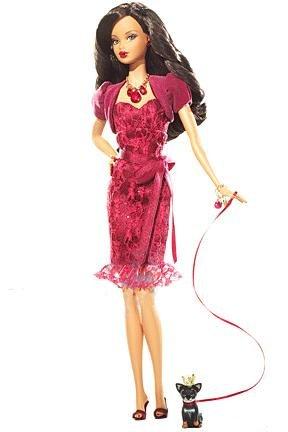 Barbie Africano-Americana Miss Enero Bellezas Piedra natal