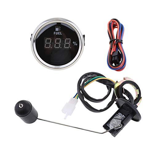 Medidor de Nivel de Combustible Digital Para Barco Marino Negro de 52 Mm Con Kit de Sensor de Combustible