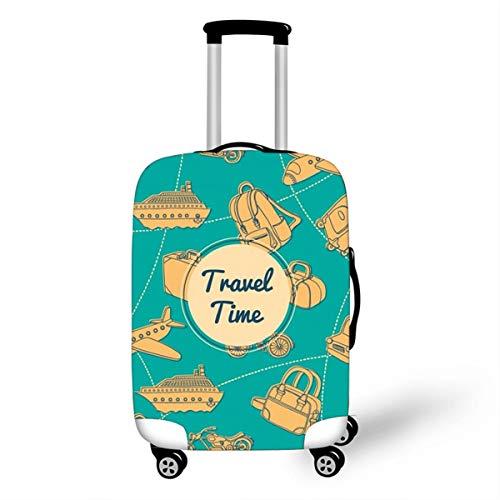Surwin 3D Elastica Proteggi Valigia Suitcase Luggage Cover Coperchio di Protezione Antipolvere Lavabile Copertura Viaggio Proteggi Bagagli Coprire (Tempo di viaggio,M (22-24 pollici))
