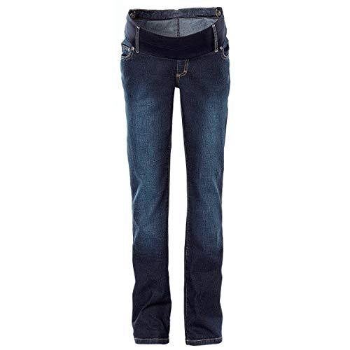 2HEARTS Umstands-Jeans We Love Basics/Umstandsmode Damen/Schwangerschaftshose/gerades Bein/dunkelblau