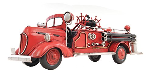 Old Modern Handicrafts 1938 Fire Engine Ford Collectible, 1:40-Scale, Red