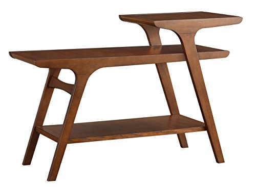Homelegance Saluki Mid-Century Two-Tier Sofa Table, Cherry
