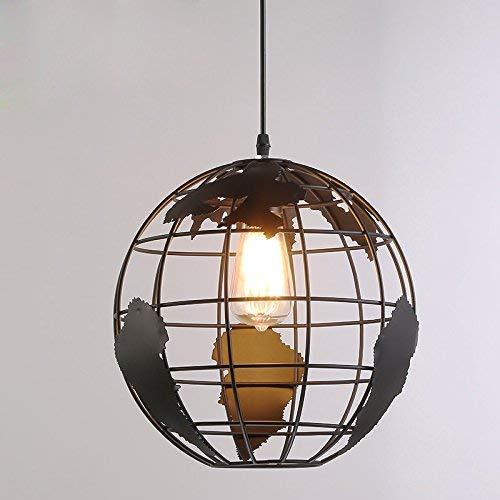 Retro Pendelleuchte Runde Form Globus Licht Vintage Pendelleuchte Deckenleuchte Metall Lampenschirm 60W E27 Hänge- & Pendelleuchten Innenbeleuchtung Deckenbeleuchtung Durchmesser 20CM