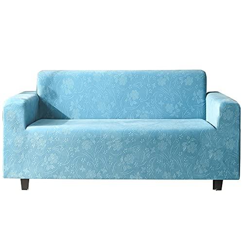 HXTSWGS Fundas de sofá elásticas,Funda de sofá Suave Antideslizante de Spandex, Protector de Muebles Lavable con Espuma Antideslizante y Fondo elástico para niños, Pets-Blue_XL